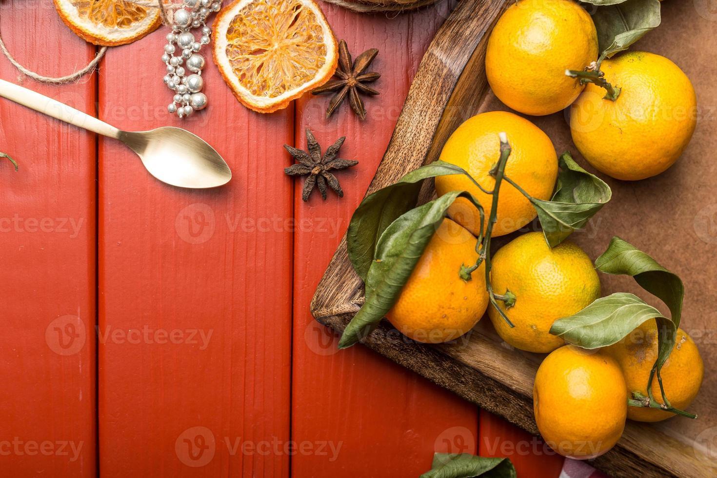 cadre de nourriture de Noël photo