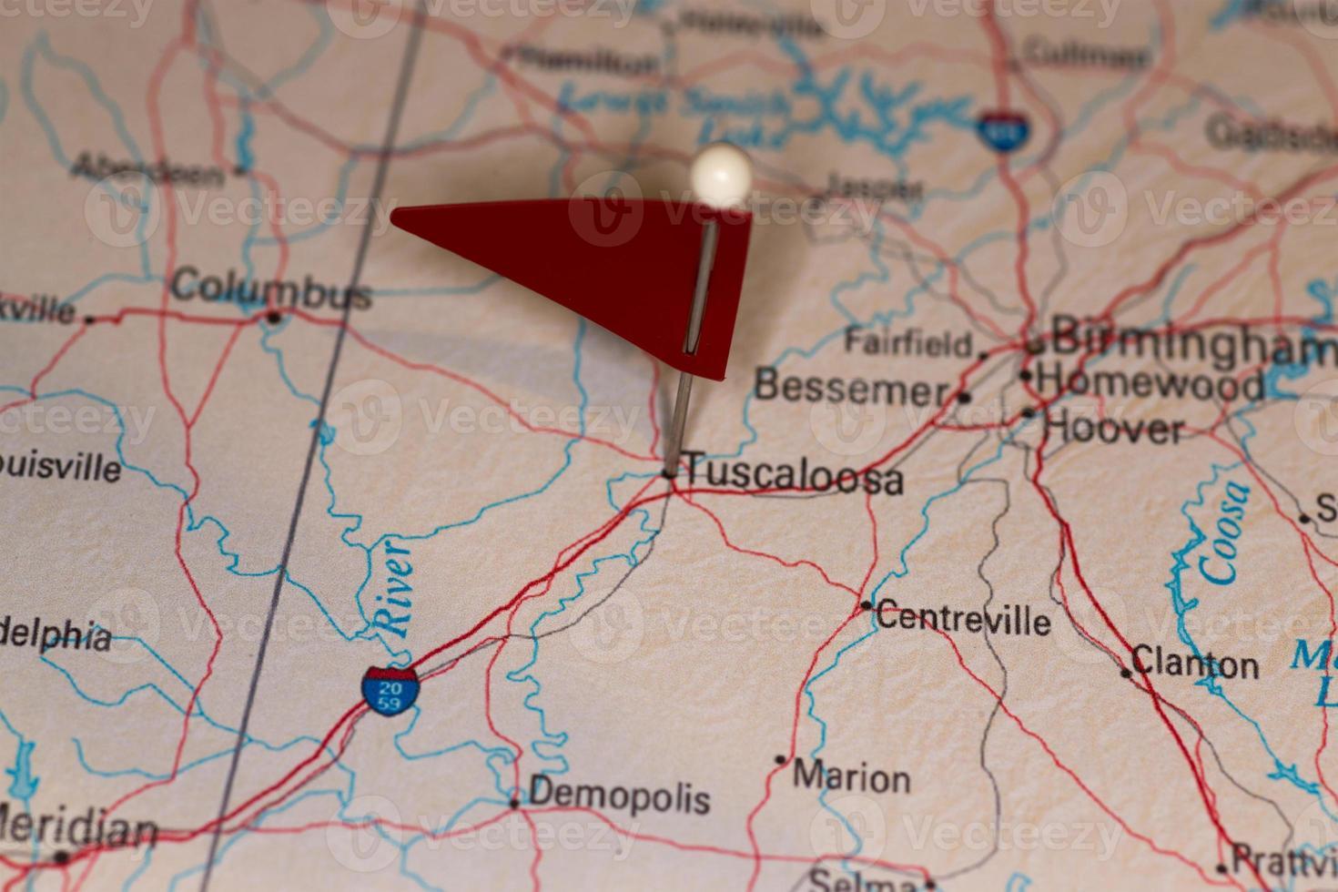tuscaloosa, al, usa - villes sur la série de cartes photo