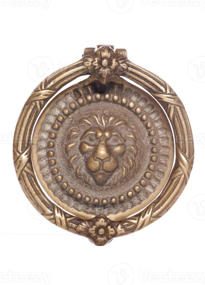heurtoir de porte lion en laiton photo