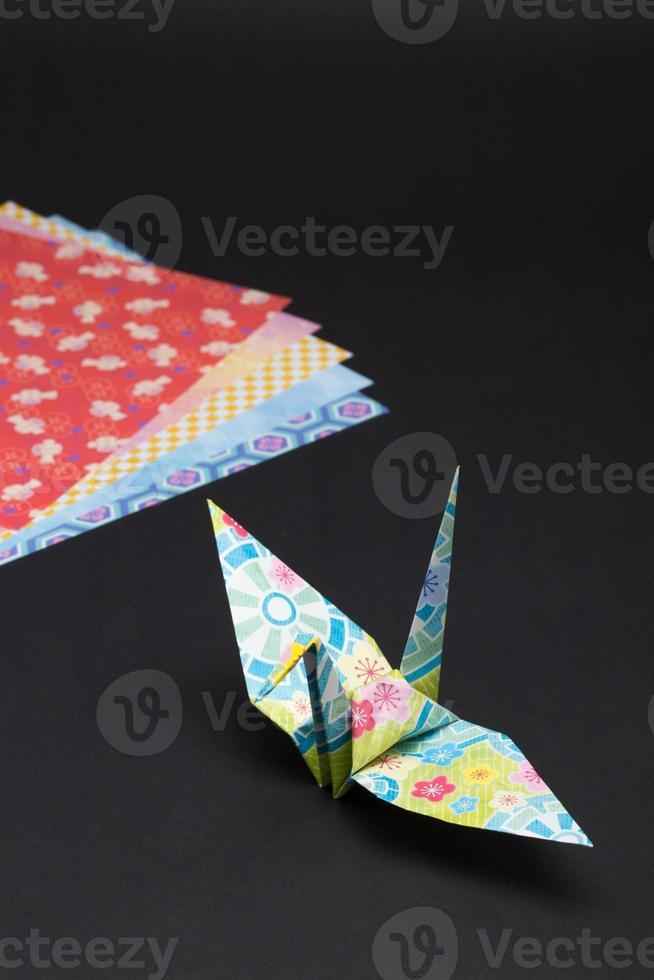 grue en origami photo
