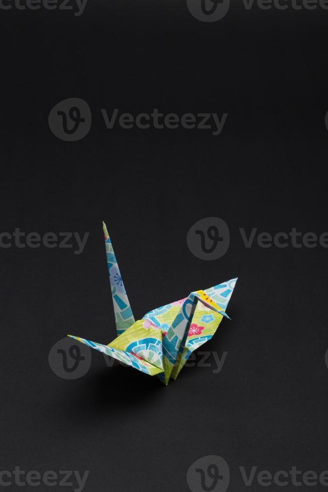 grues en papier (1 oiseau) photo