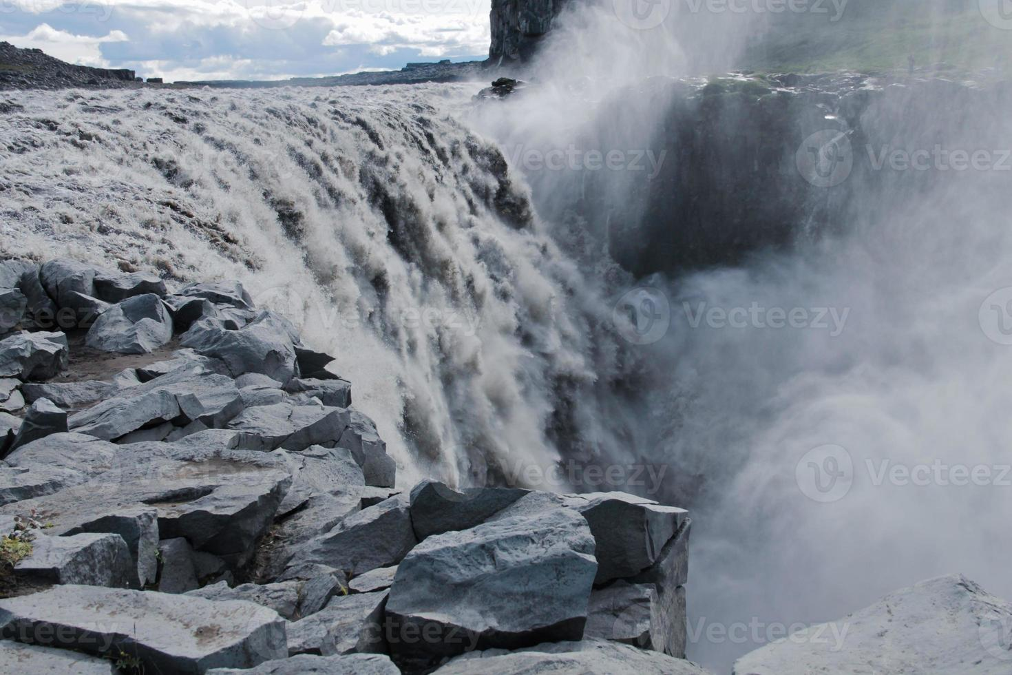 belle photo panoramique dynamique avec vue sur cascade en islande