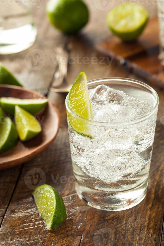 Gin alcoolique et tonique photo