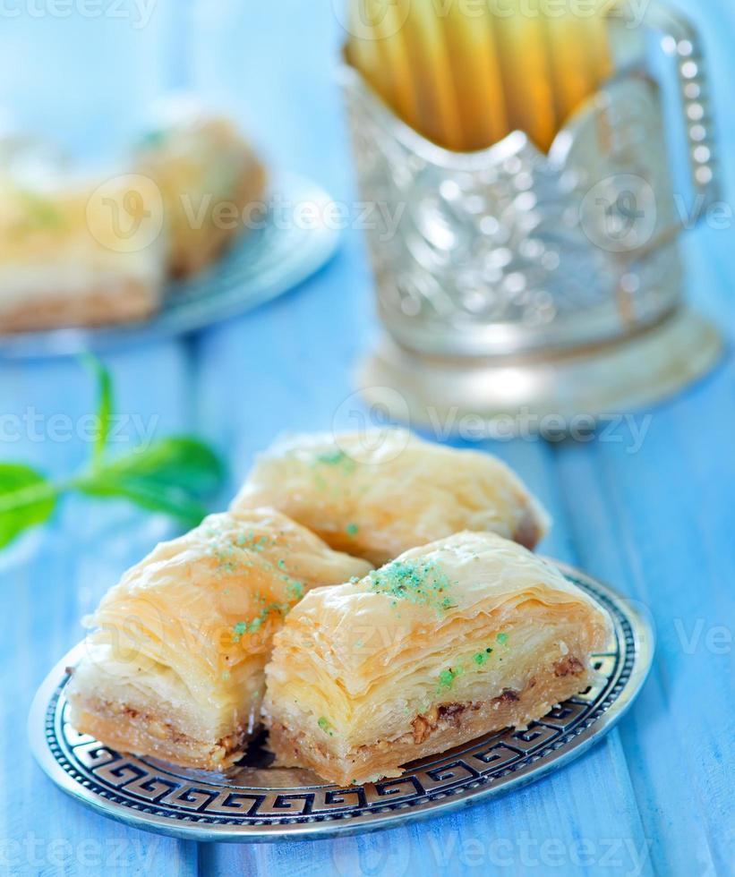 baklava, dessert turc photo