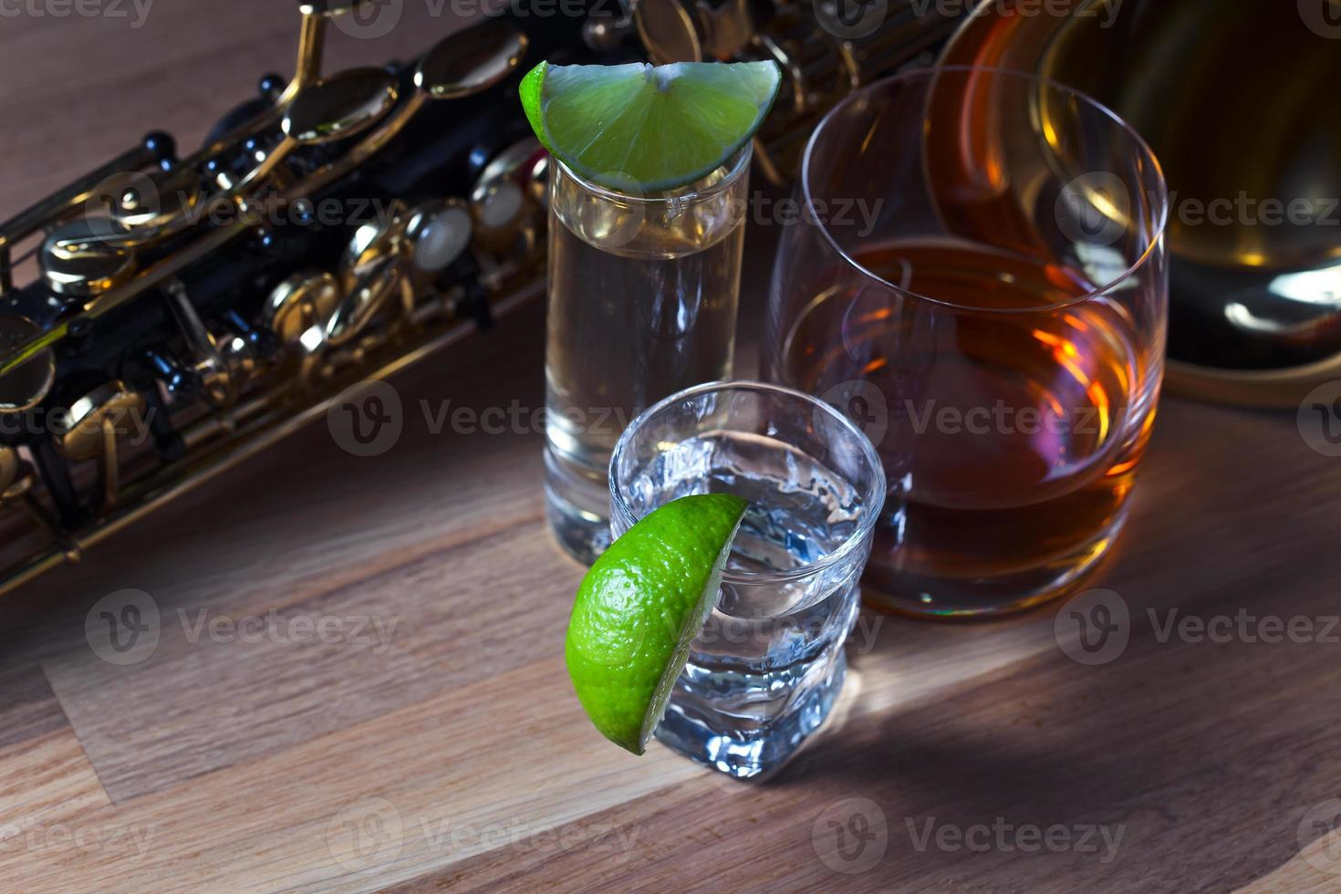 saxophone et boissons photo