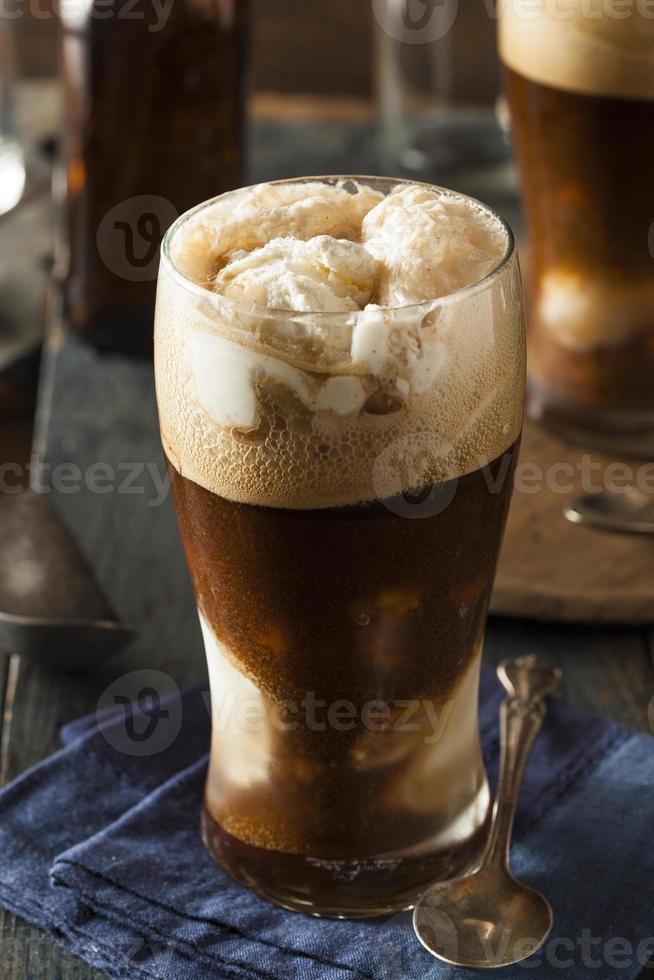 flotteur de bière brune stout surgelée photo