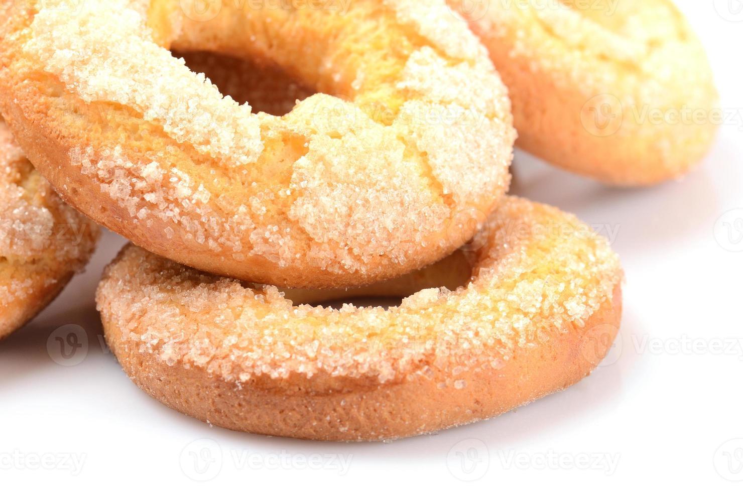 bagels sucrés frais faits maison photo
