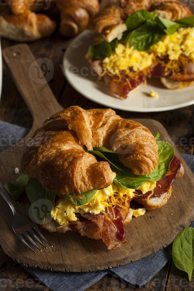 sandwich au petit déjeuner jambon et œuf photo