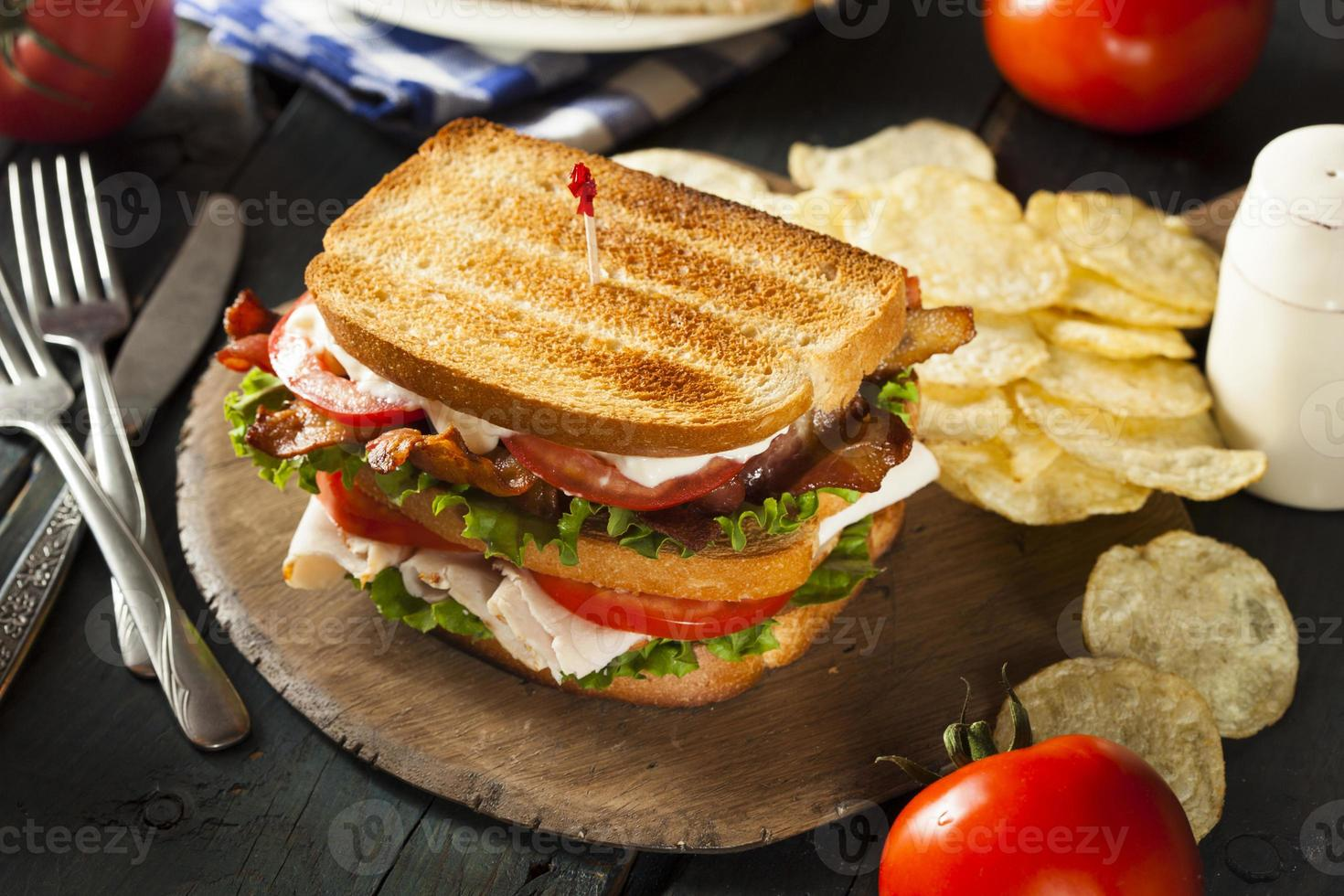 sandwich club à la dinde et au bacon photo