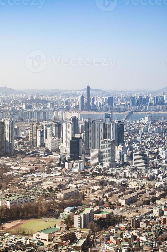 paysage urbain du centre-ville de séoul. photo