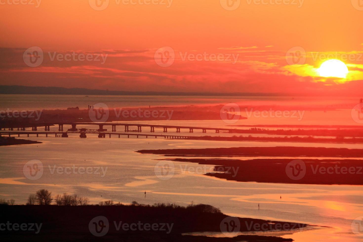 coucher de soleil longue île photo
