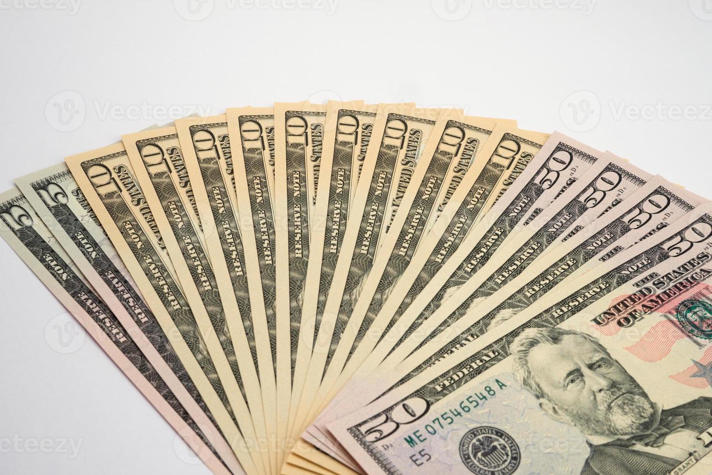 argent américain, nouveaux billets d'un dollar photo