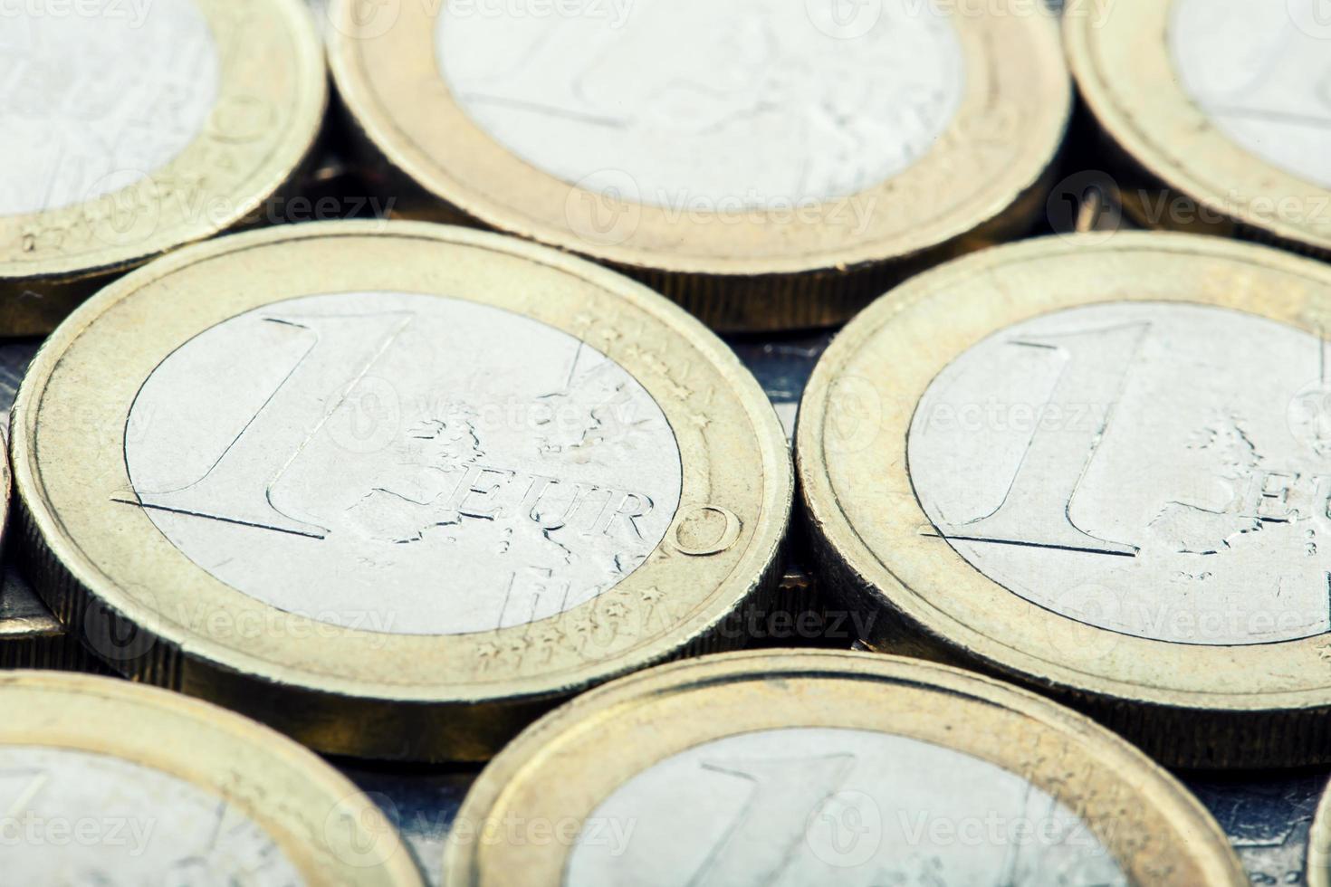 pièces en euros. argent euro. monnaie euro. photo