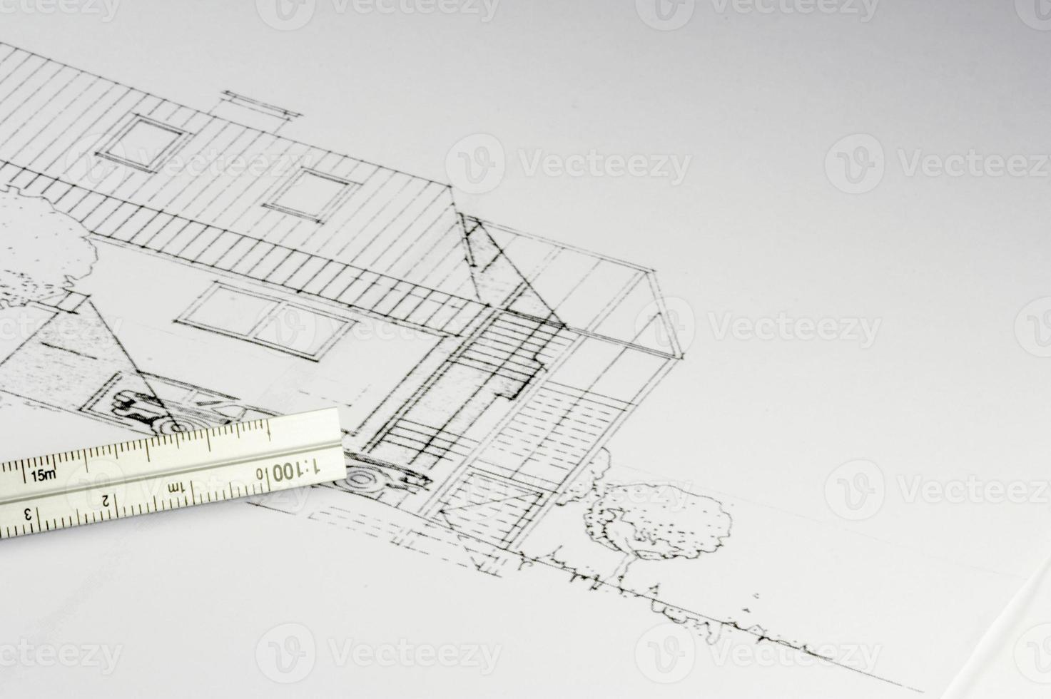 plan d'un bâtiment 02 photo