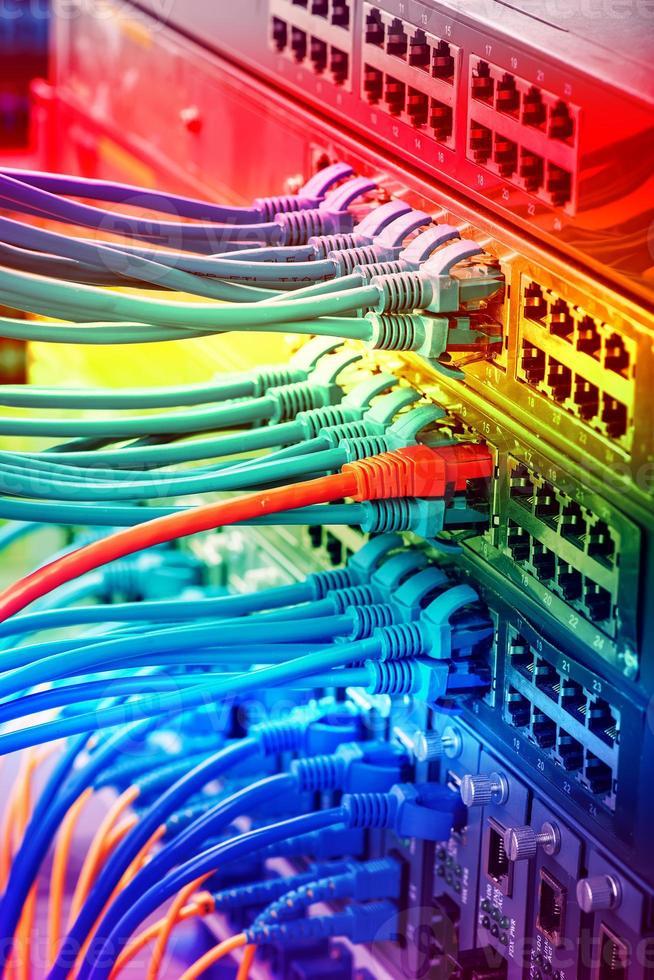 réseau informatique de technologie de l'information, éther de télécommunication photo
