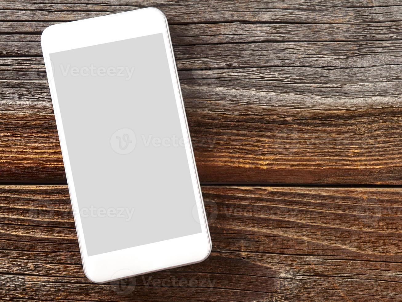 smartphone sur bois photo