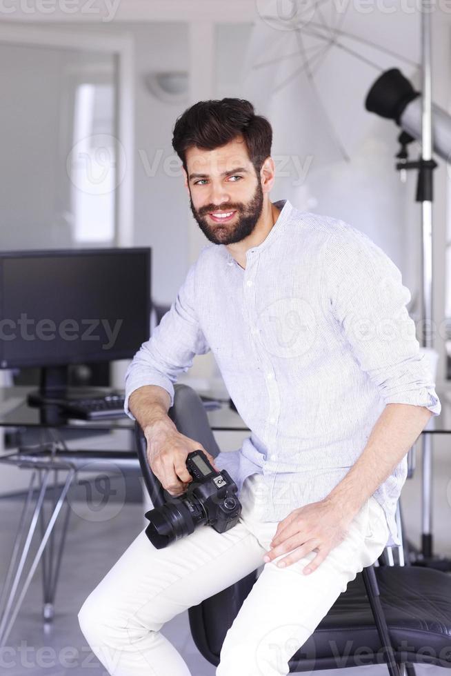 portrait de jeune photographe photo