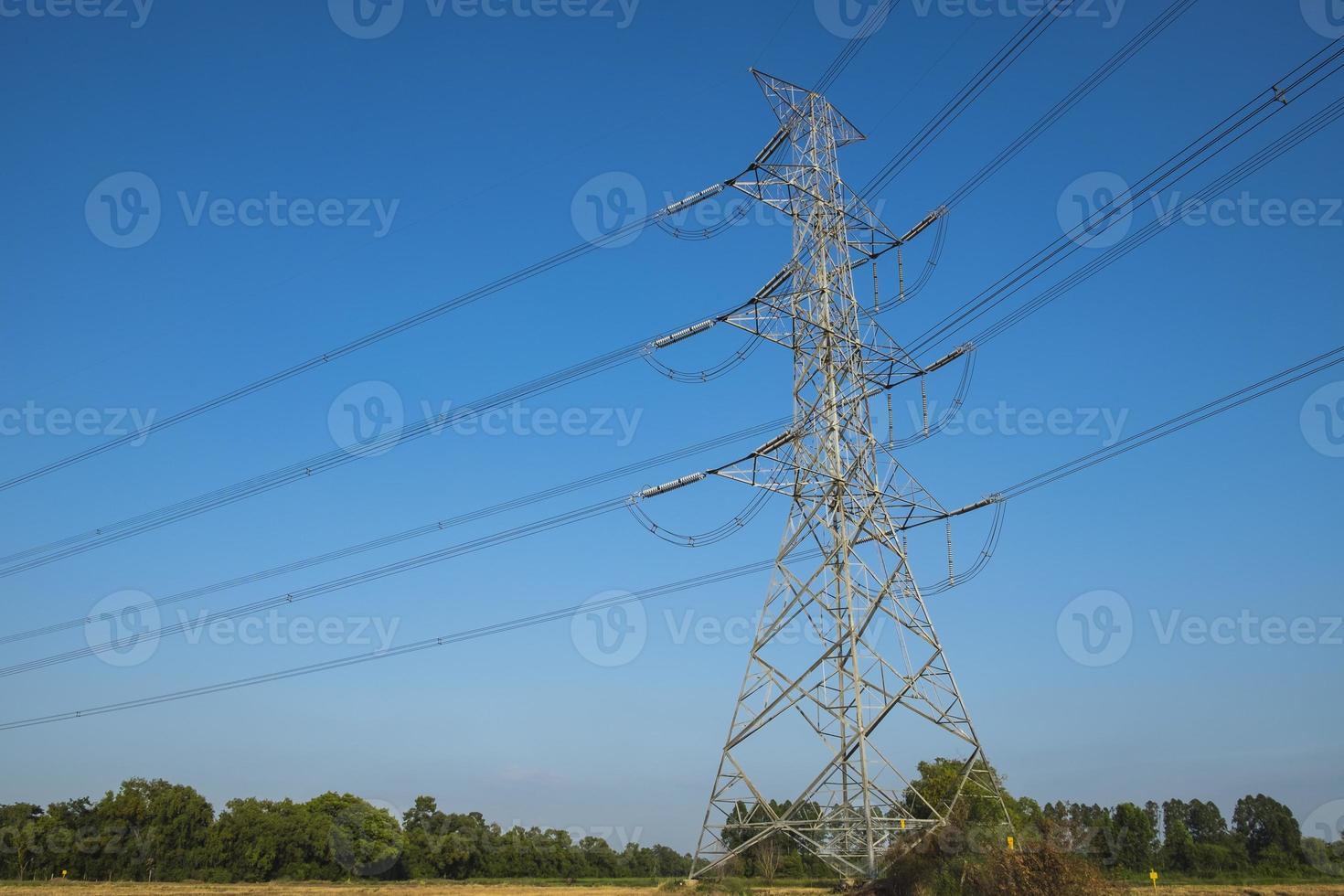 poteau électrique silhouette photo