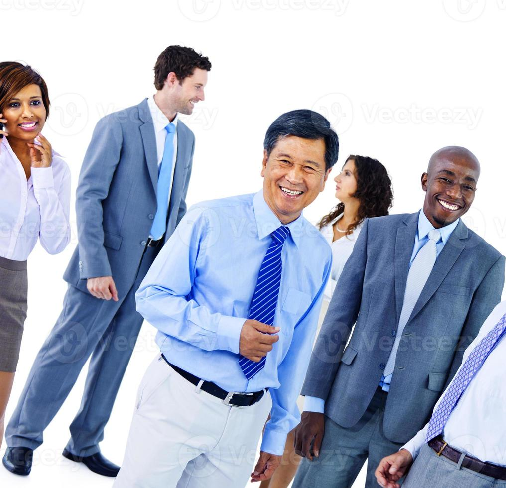 gens d'affaires communication d'entreprise bureau équipe concept photo