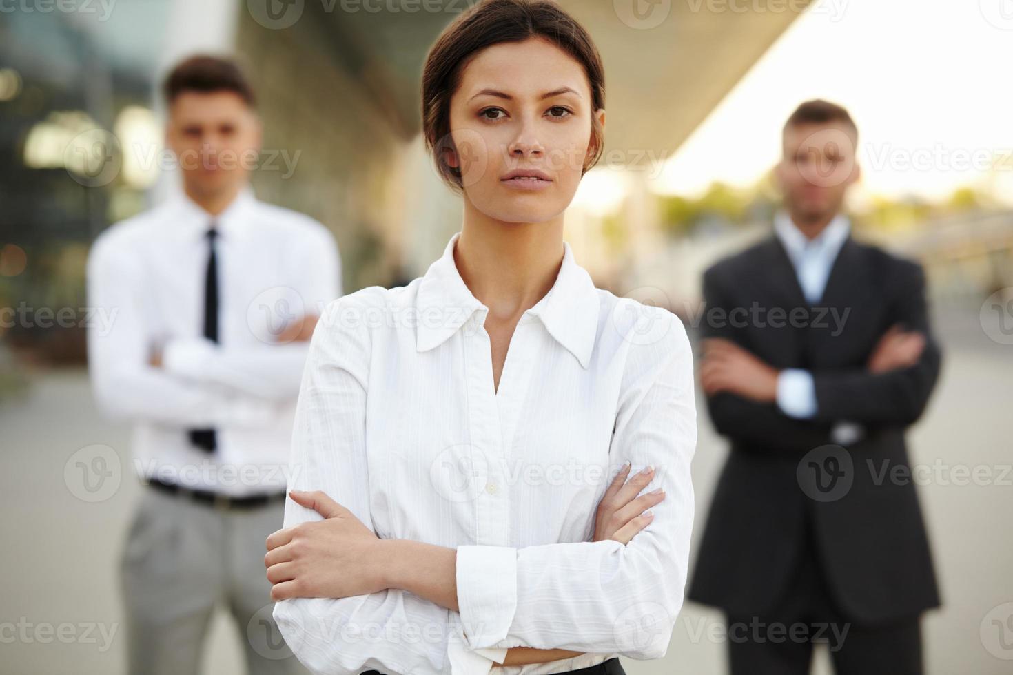 groupe de gens d'affaires. photo