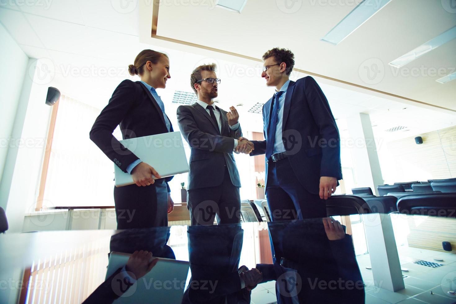 réunion au bureau photo