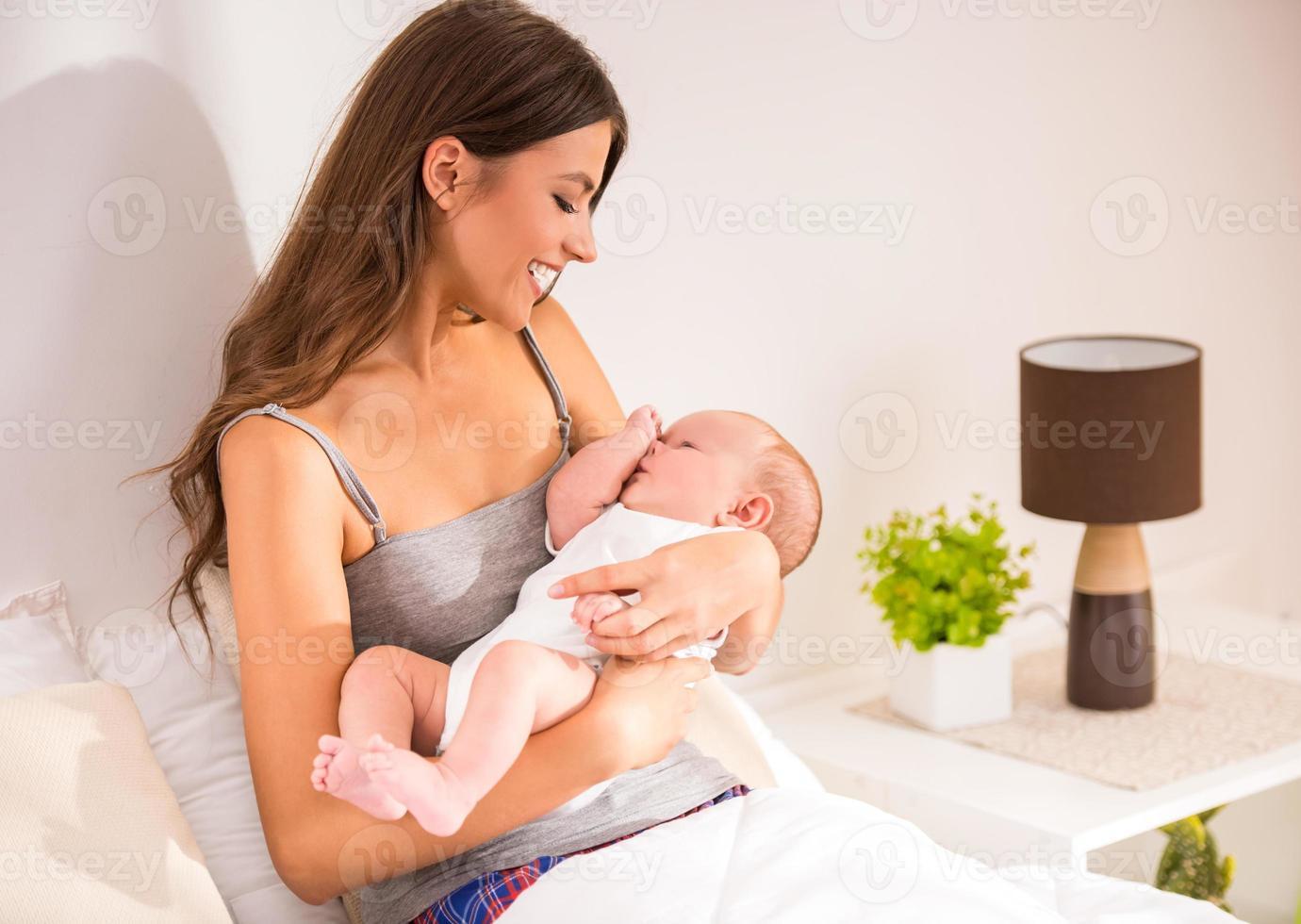 mère et bébé photo