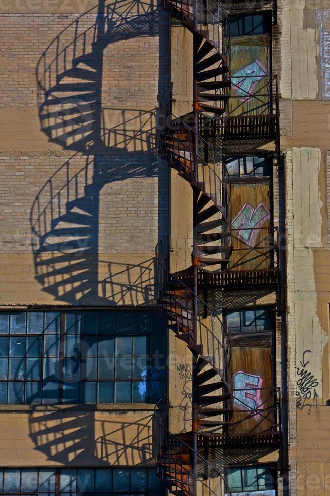 Escalier de secours escalier en colimaçon photo
