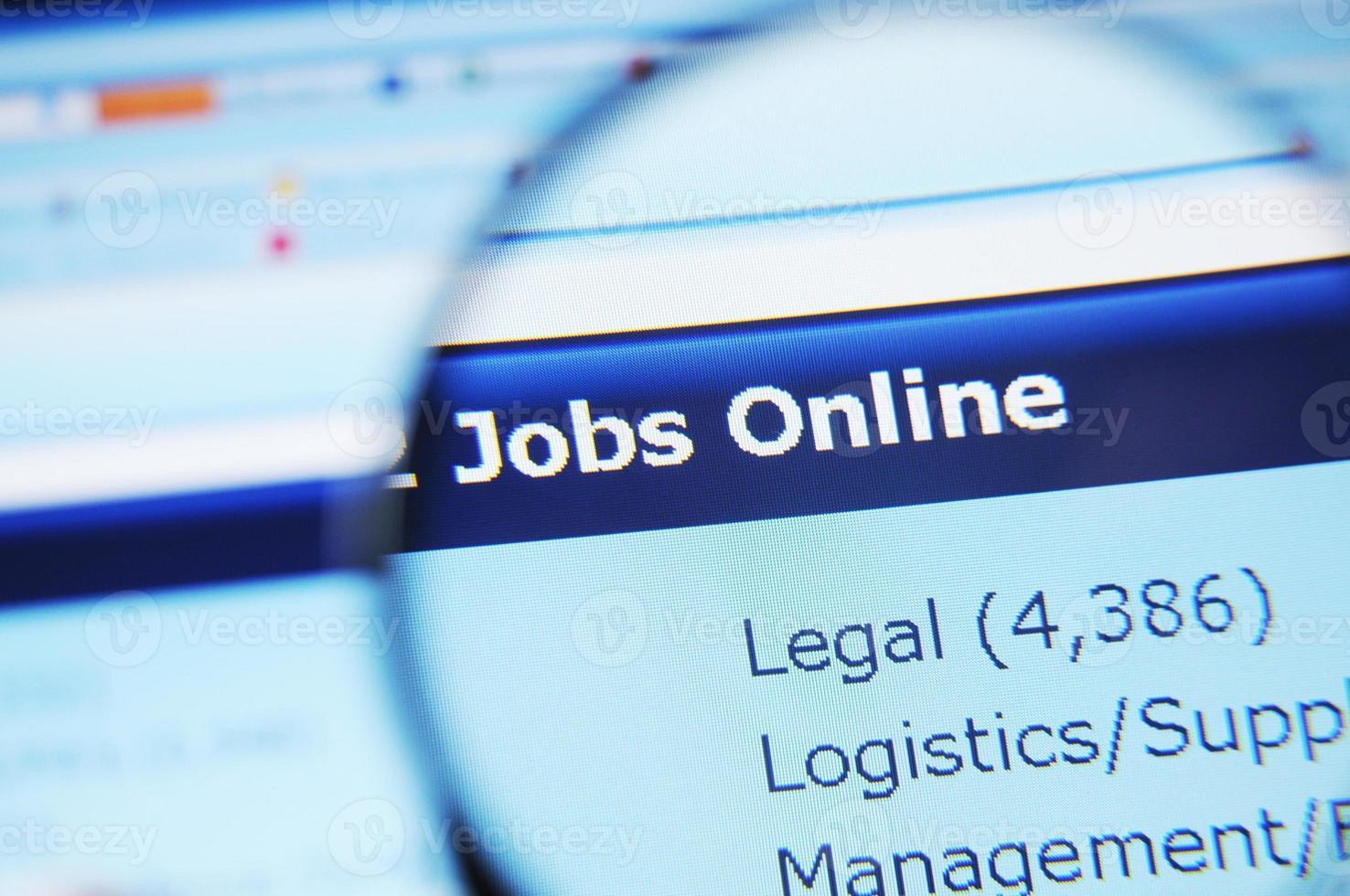 emplois en ligne photo