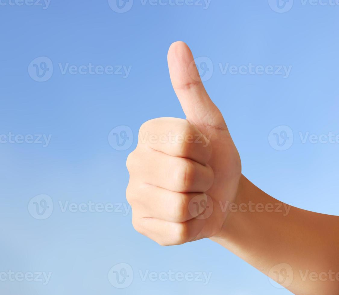 bon geste de la main photo