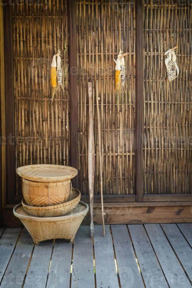 Culture thaïlandaise en osier photo