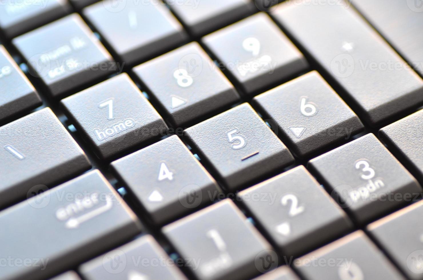 gros plan du clavier d'ordinateur portable photo