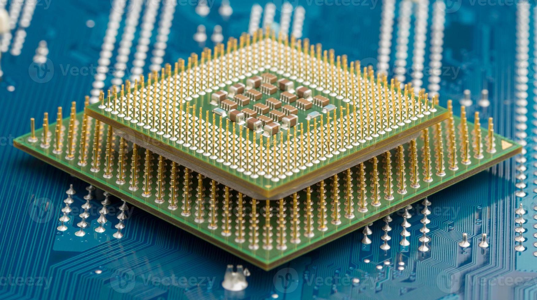 processeurs informatiques sur circuit électrique photo