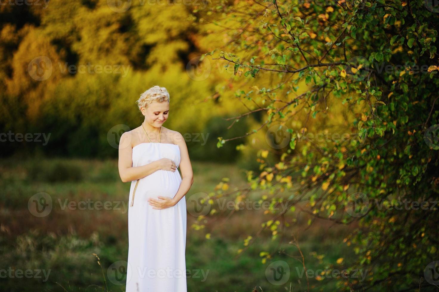 jeune, femme enceinte, caucasien photo