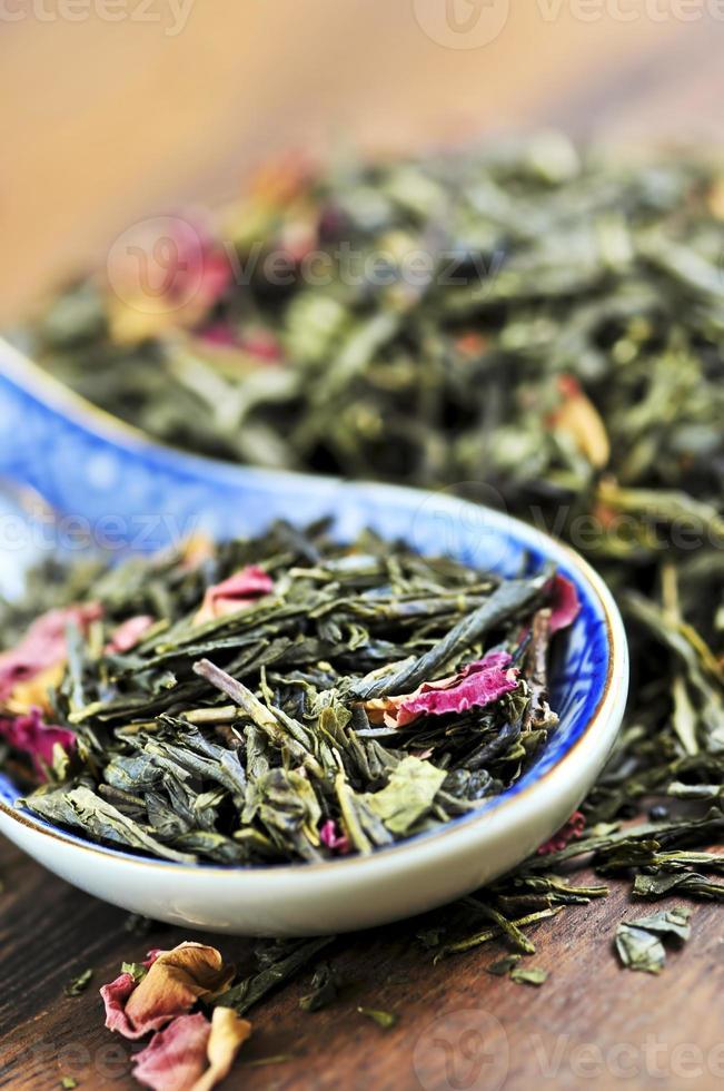 thé vert en vrac photo