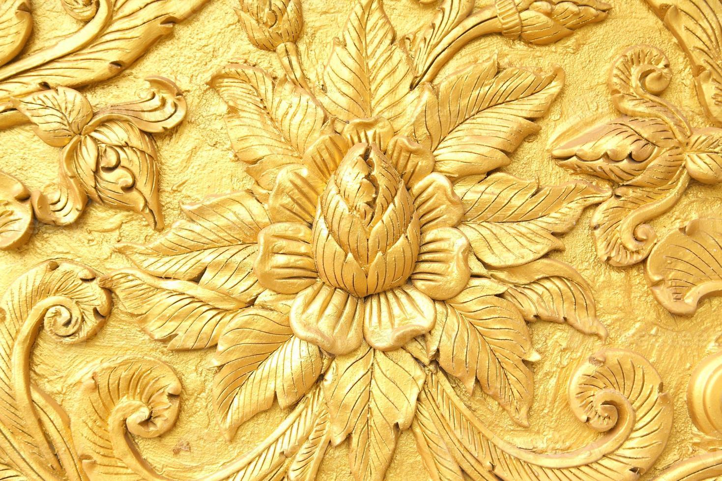 motif de style traditionnel thaïlandais décoratif dans le temple, Thaïlande. photo