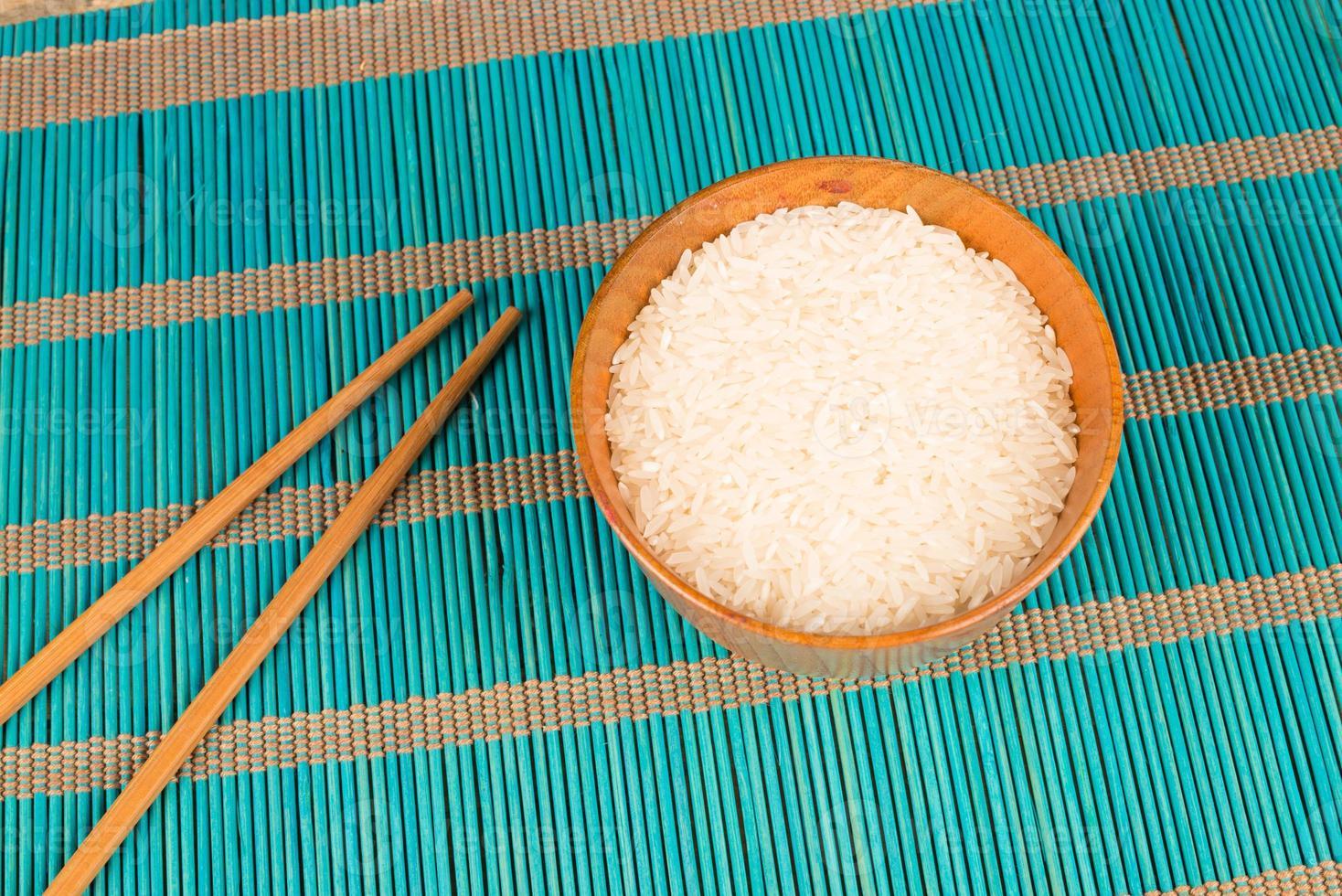 riz et baguettes photo