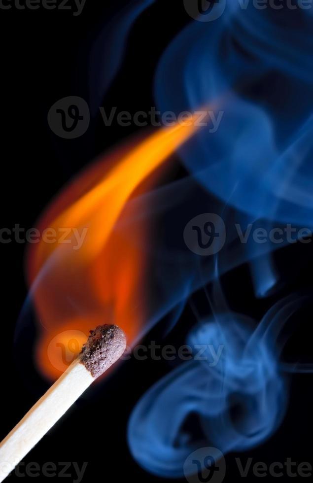 faire correspondre la flamme et la fumée photo