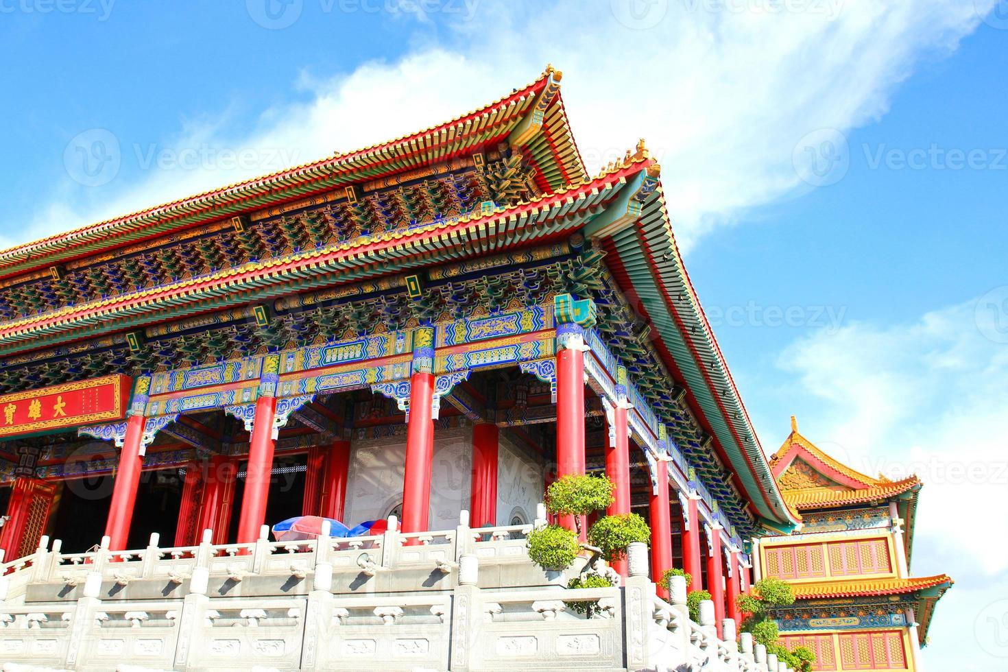temple de style chinois traditionnel à wat leng-noei-yi photo