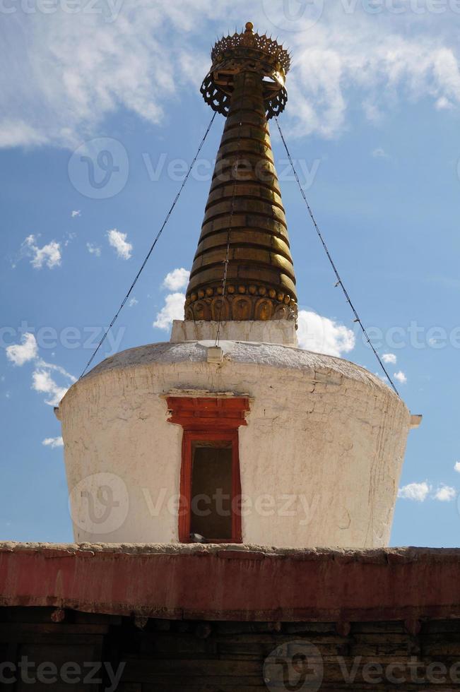 stupa dans shey palace, leh, ladakh, inde photo