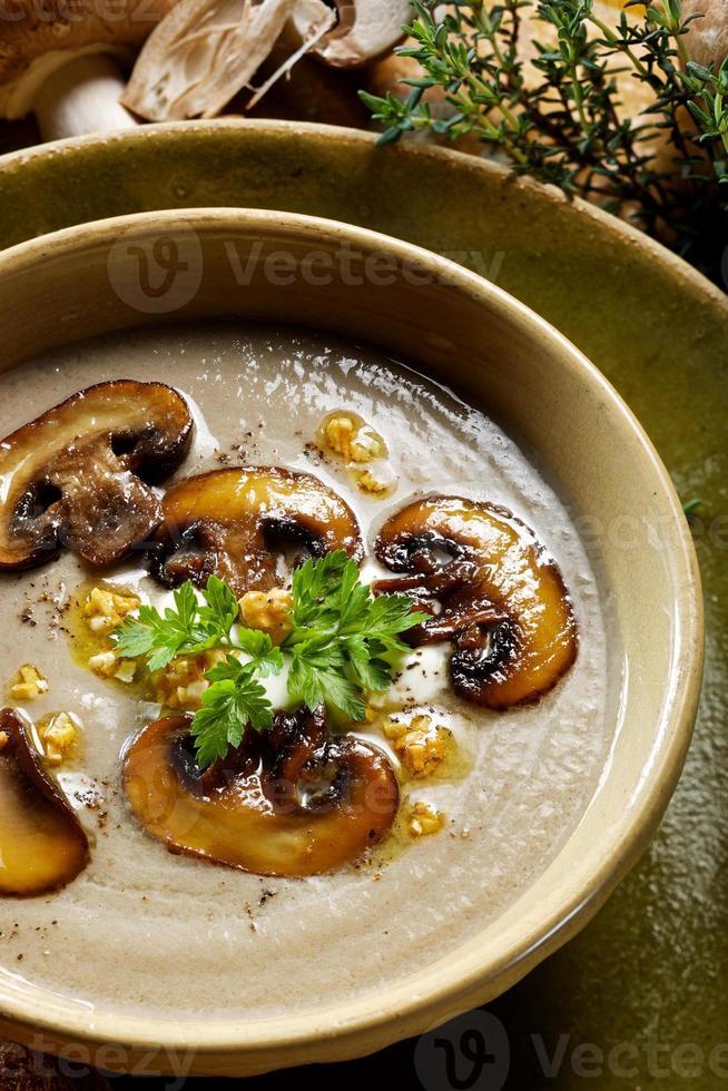 soupe à la crème de champignons photo