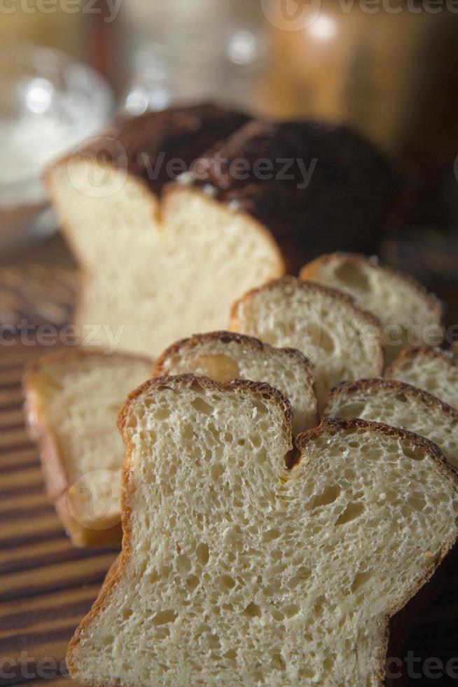 tranches de pain sans gluten. photo