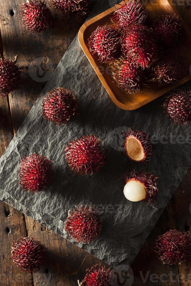 ramboutan tropical bio frais photo