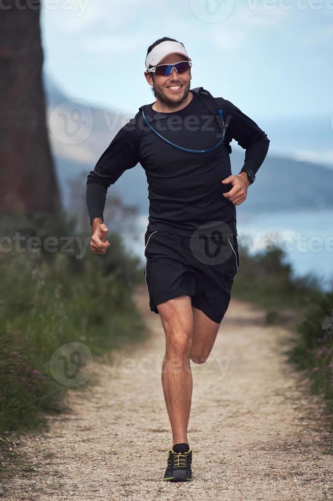 coureur de piste heureux photo