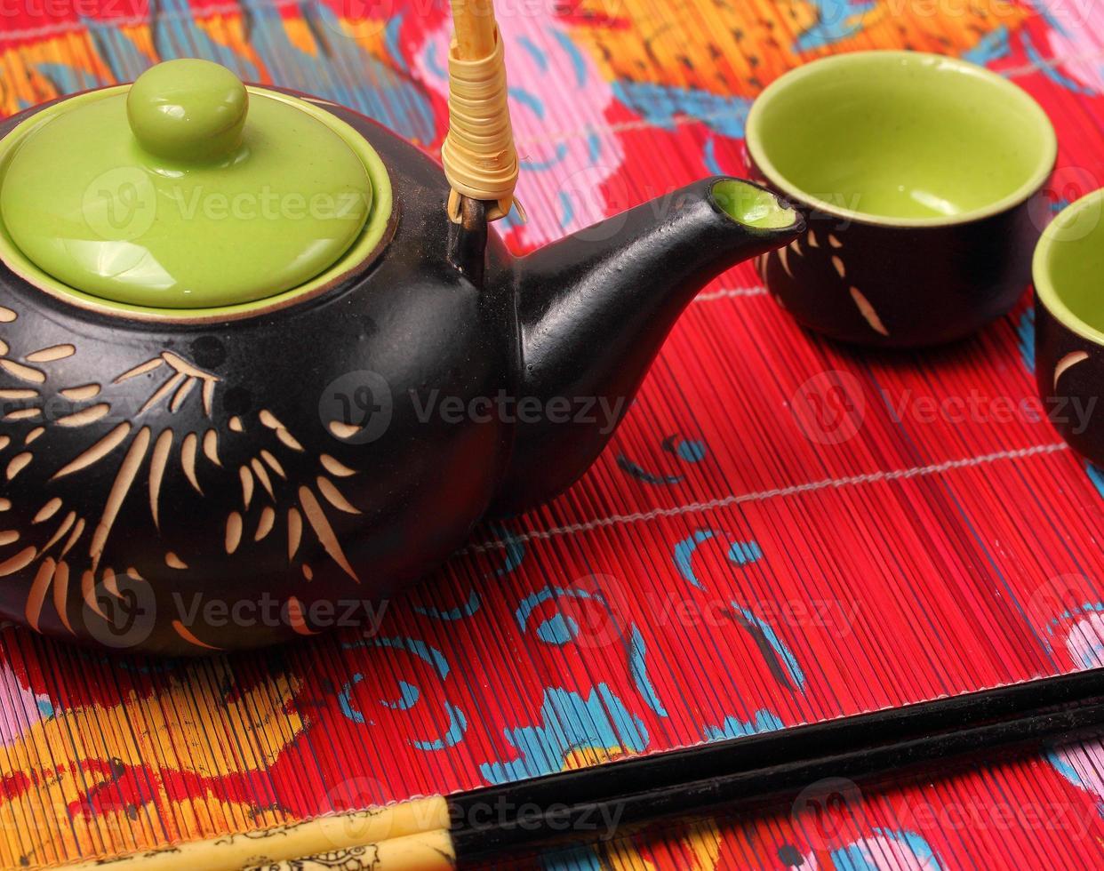 service à thé asiatique photo