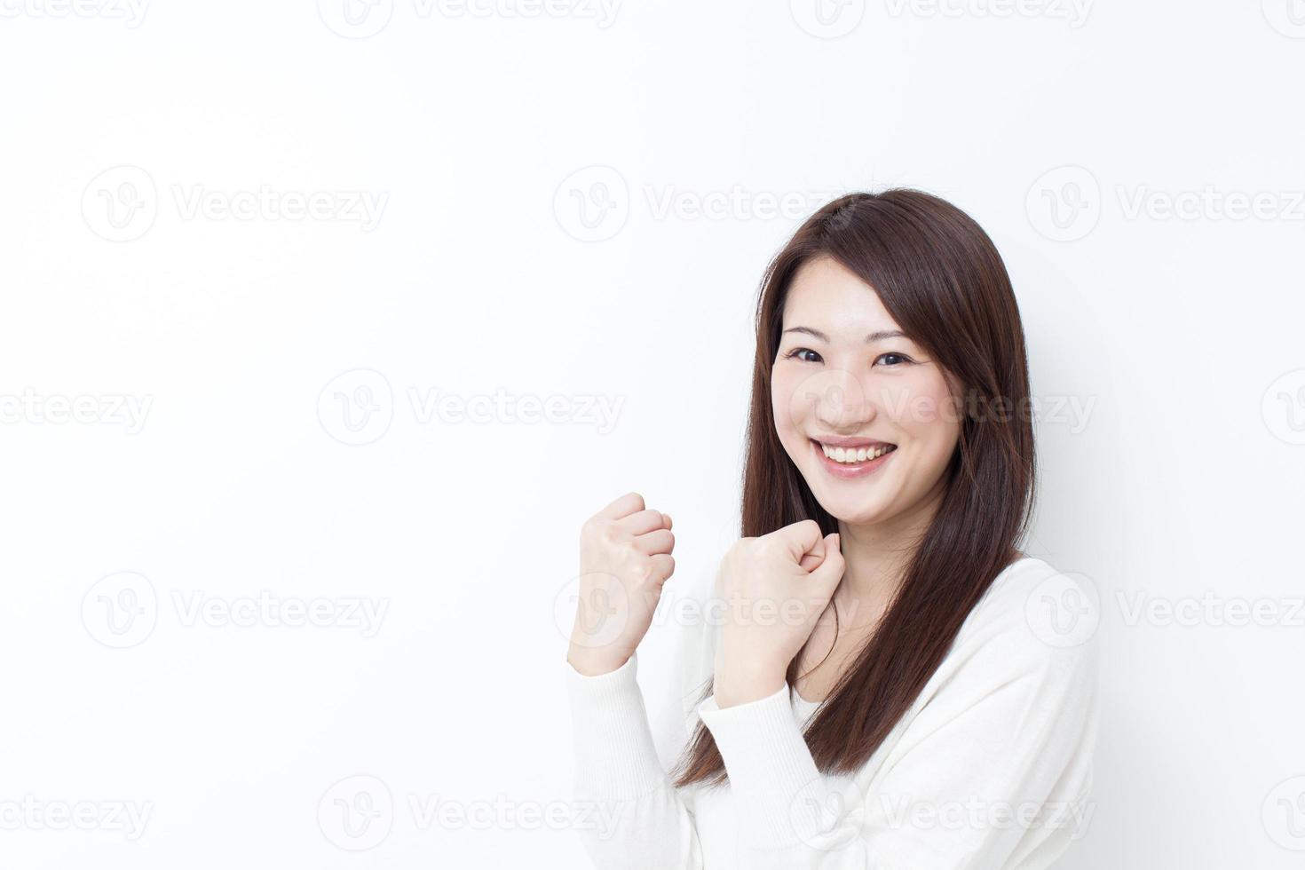 femme asiatique heureuse photo