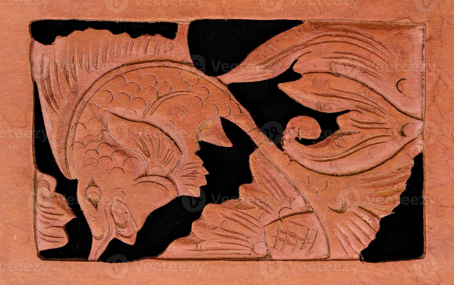 sculpture sur bois asiatique photo
