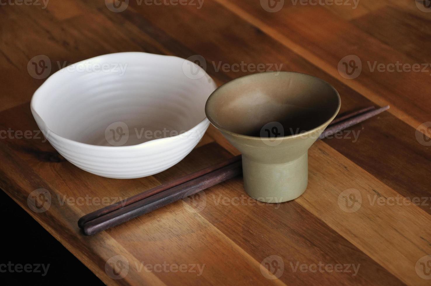 ensemble de plats asiatiques photo