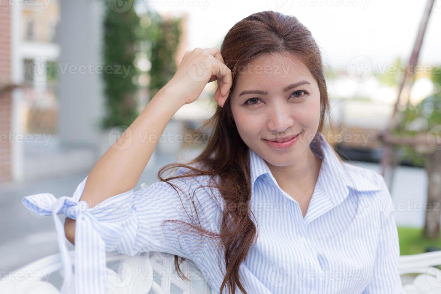 portrait de la belle femme asiatique photo