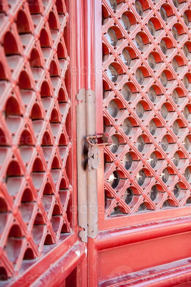 portes volets rouges asiatiques photo