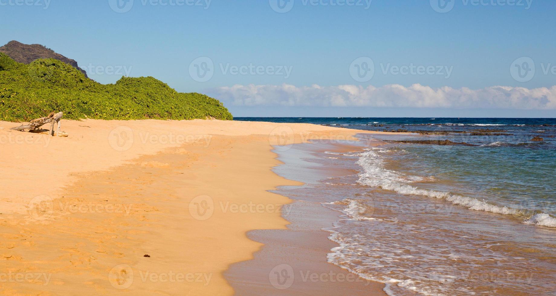 plage de maha'ulepu à kauai photo
